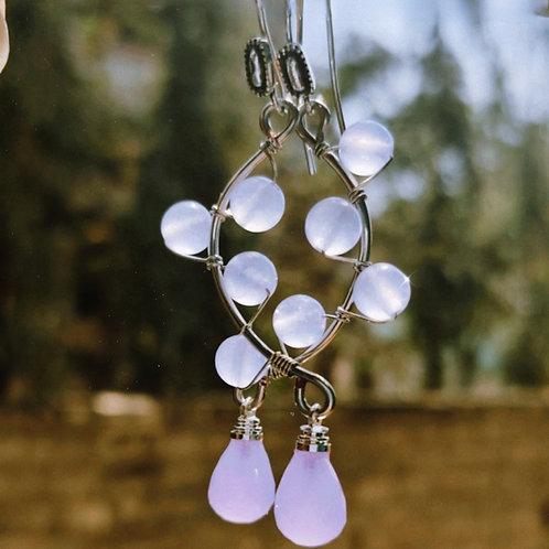 Onyx n Swarovski Earrings