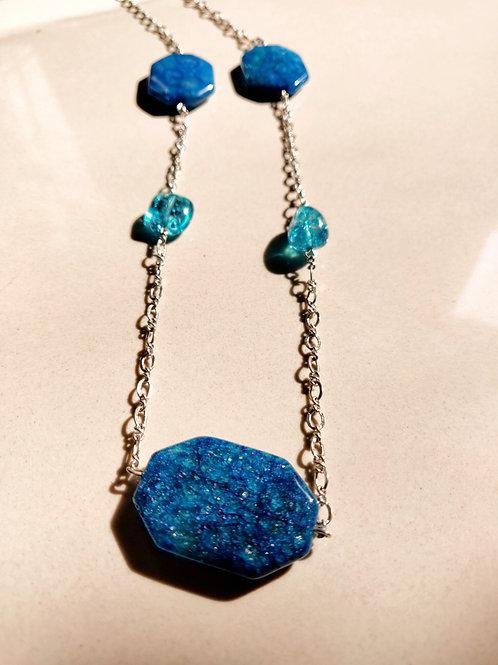 Blue Semiprecious Long Neckwear