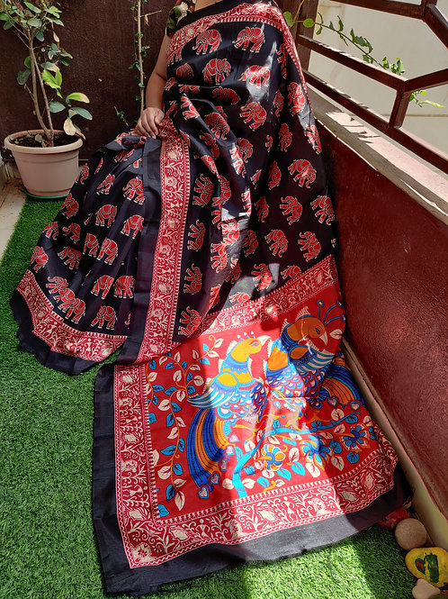 Kalamkari Black and Red Combo