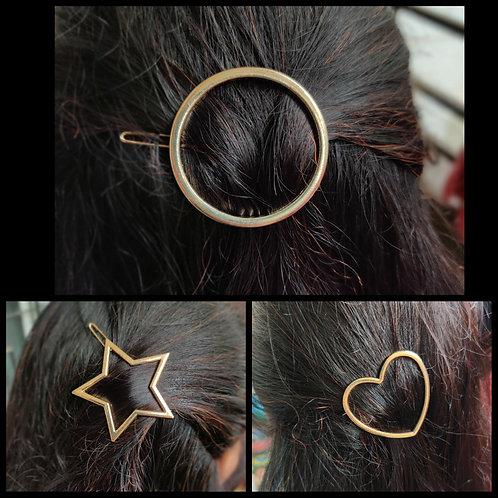 Hair sliders-circle, star, heart