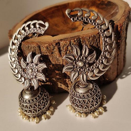 Silver look alike Jhumkas