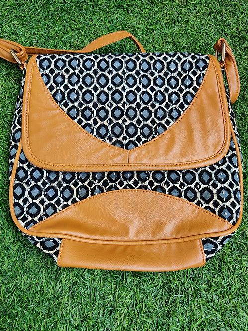 Indigo block printed Sling bag