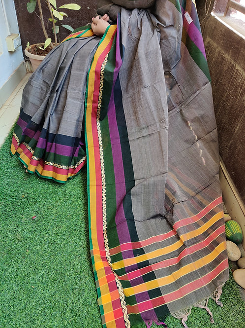 Cotton saree & kalamkari blouse