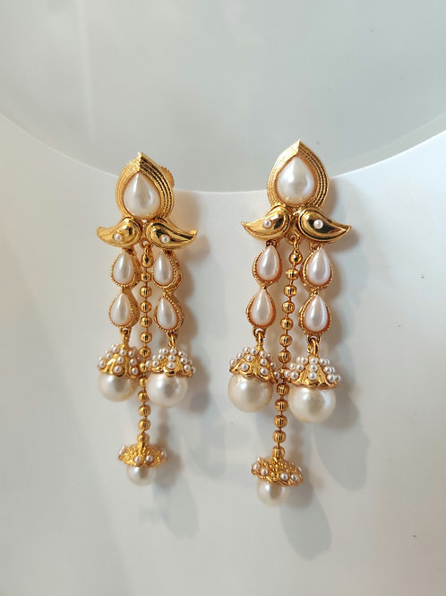 Layered Pearl Earrings
