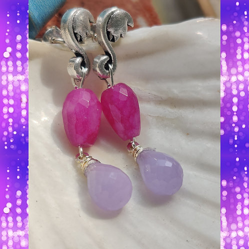 Lilac Swarovski Earrings