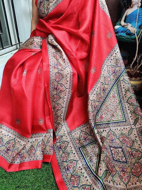 Madhubani in matka silk