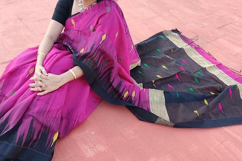 Pink Handloom Khadi