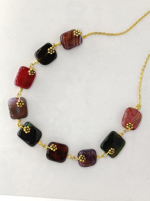 Gorgeous Semiprecious Stones Necklace