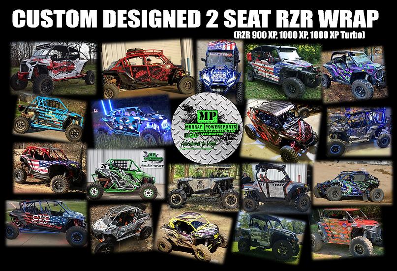 Custom Designed 4 Seat RZR Wrap (900 XP, 1000 XP, 1000 XP Turbo)