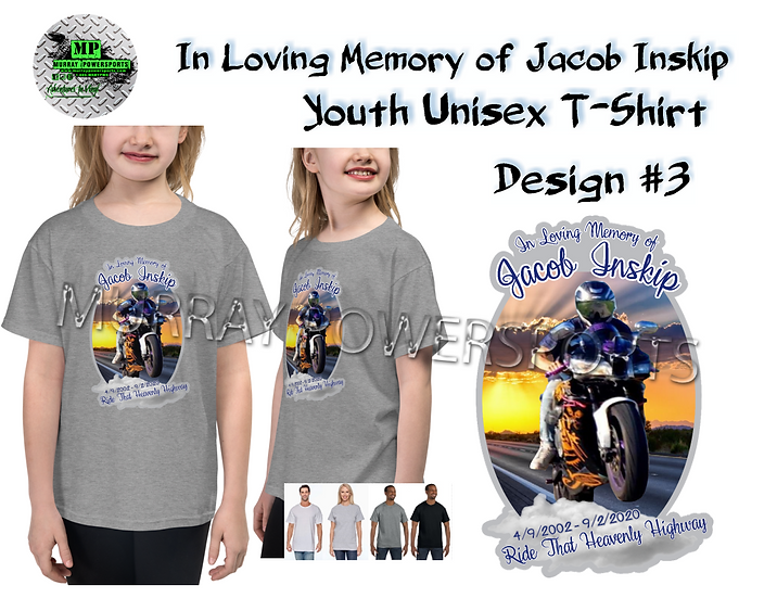 Jacob Inskip Memorial Youth Unisex T-Shirt (design 3)