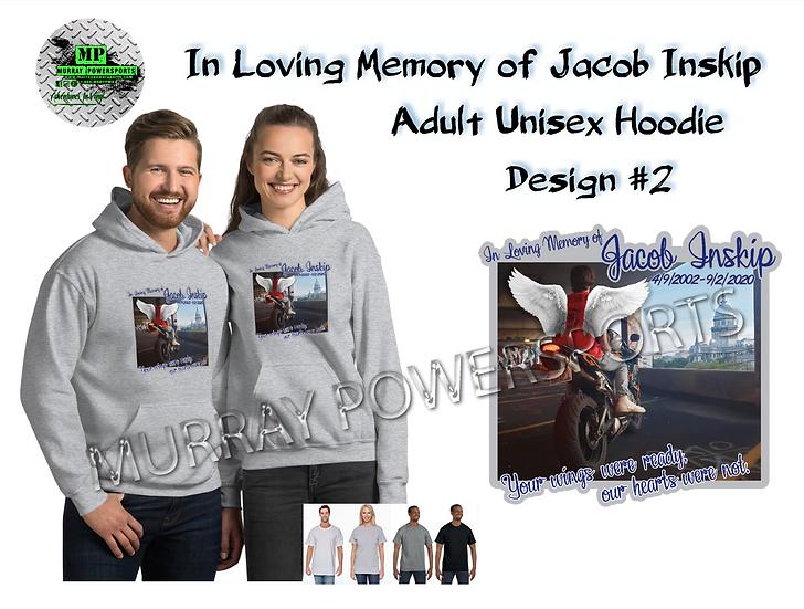 Jacob Inskip Memorial Adult Unisex Hoodie (design 2)