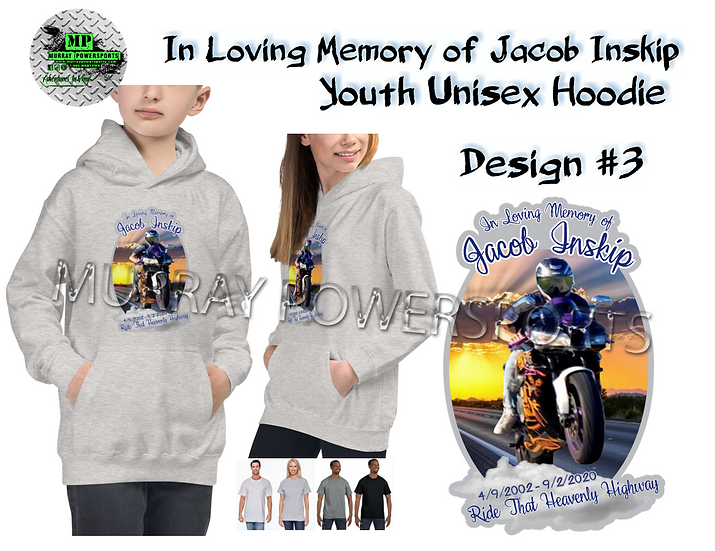 Jacob Inskip Memorial Youth Unisex Hoodie (design 3)