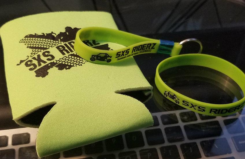 SXS RIDERZ Can Cooler/Koozie, Wristband & Keychain Bundle  (Save $5)