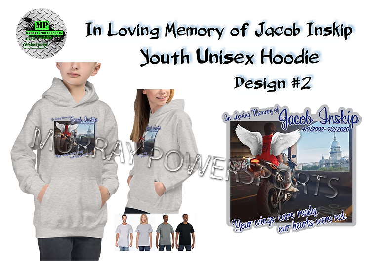 Jacob Inskip Memorial Youth Unisex Hoodie (design 2)