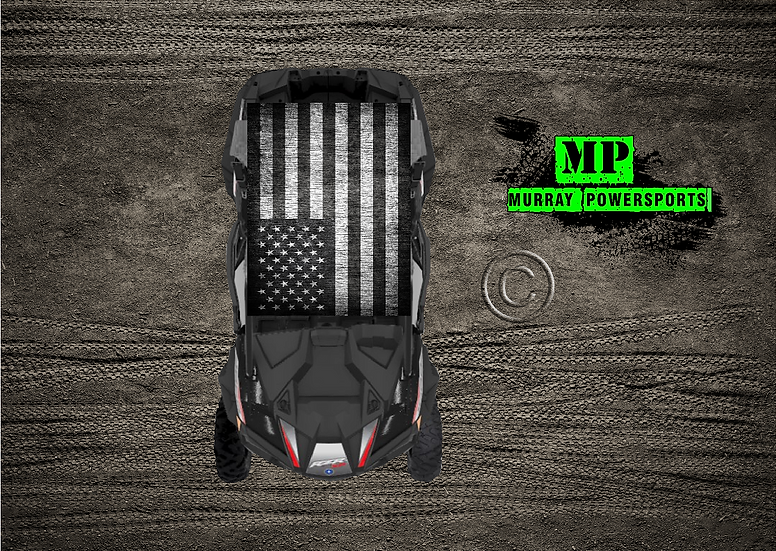 SXS/UTV/RZR 2 seat or 4 seat Roof Wrap/Decal  (Truck/Car )
