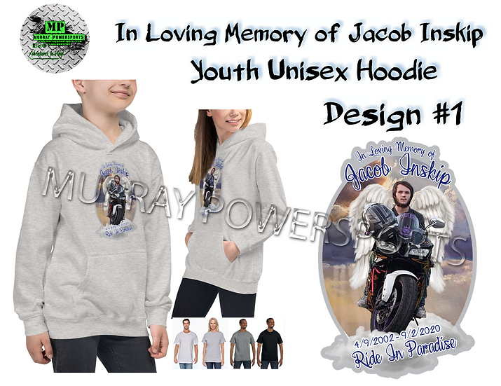 Jacob Inskip Memorial Youth Unisex Hoodie (design 1)