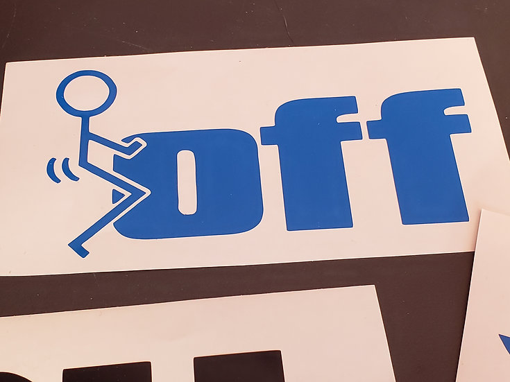 F off Decal (Color & Size Options)