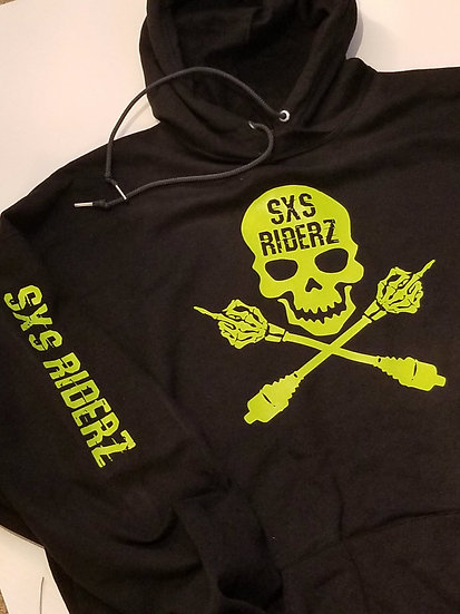 SXS RIDERZ Original Moody Skull Hoodie *ADULT* (custom shirt & vinyl colors)