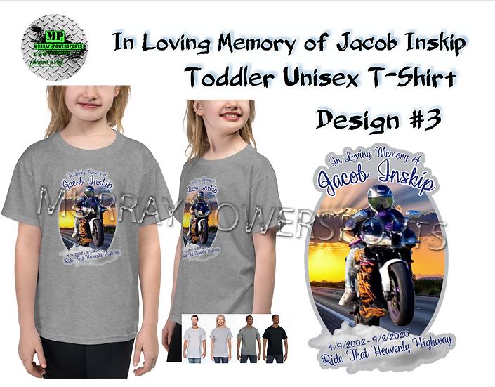 Jacob Inskip Memorial Toddler Unisex T-Shirt (design 3)