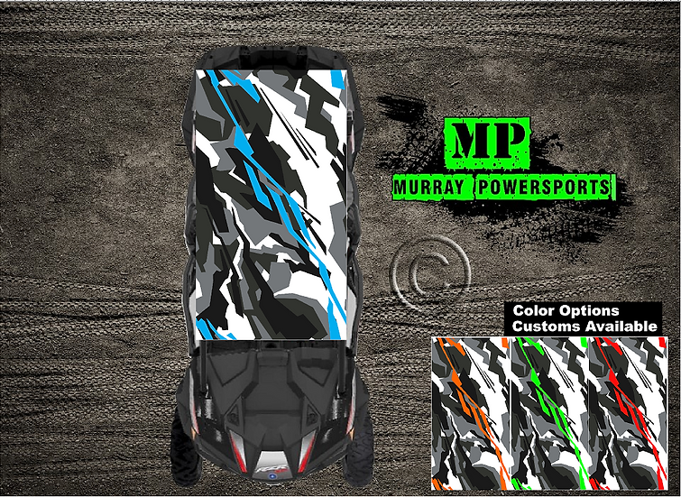 SXS/UTV/RZR 4 seat Roof Wrap/Decal  (Truck/Car )