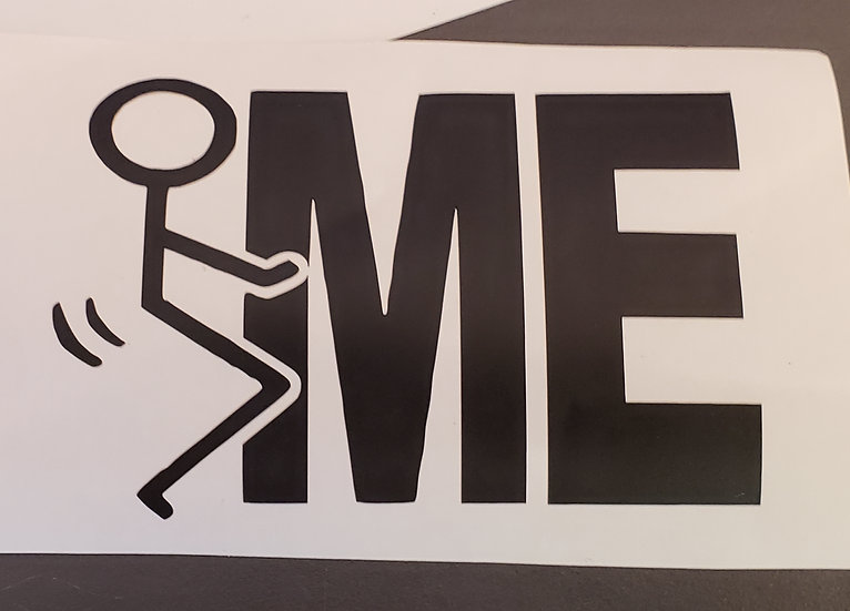 F ME Decal (Color & Size Options)