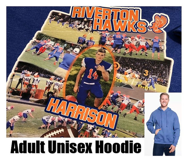Customized Sports Photo Hoodie *Adult* - Show your team spirit!