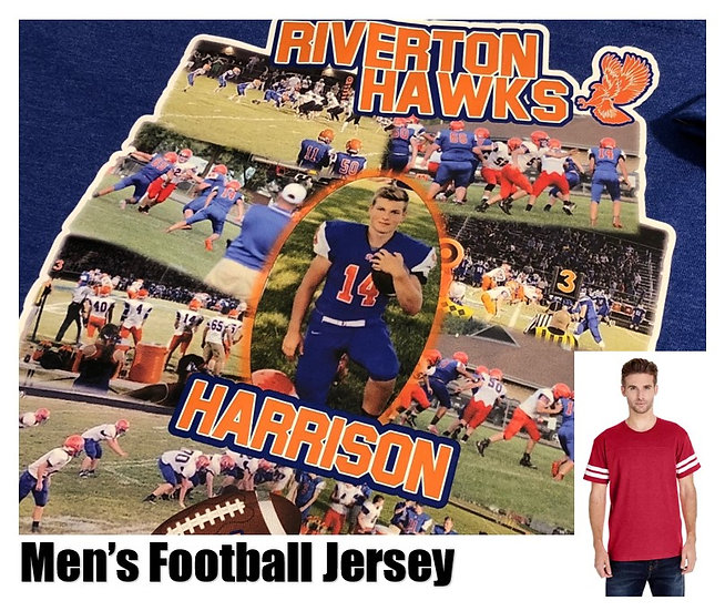 Customized Sports Photo Football Jersey *Men* - Show your team spirit!