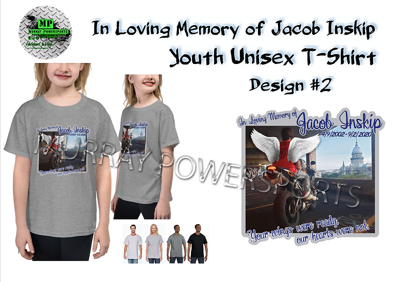 Jacob Inskip Memorial Youth Unisex T-Shirt (design 2)