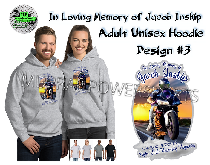 Jacob Inskip Memorial Adult Unisex Hoodie (design 3)