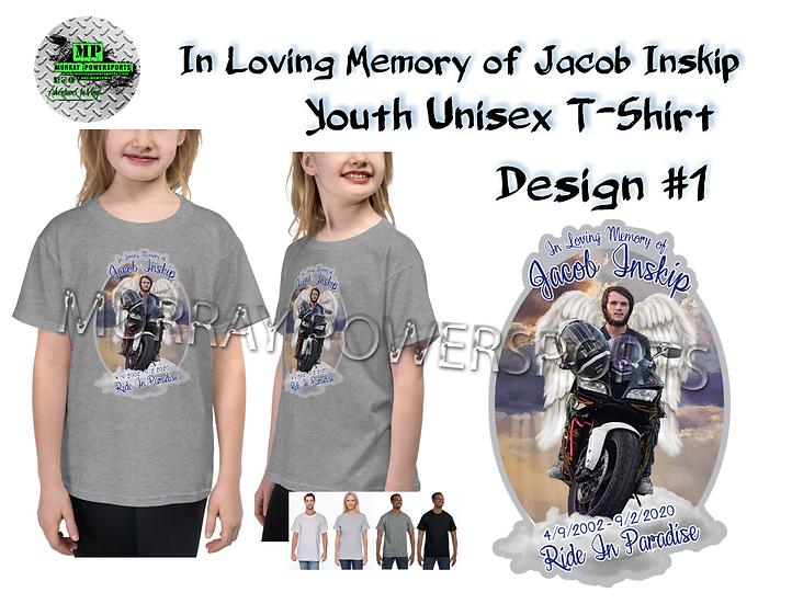 Jacob Inskip Memorial Youth Unisex T-Shirt (design 1)