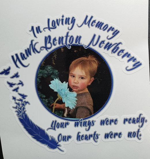 Hawk Newberry Memorial Photo Decal #2  (2 size options)