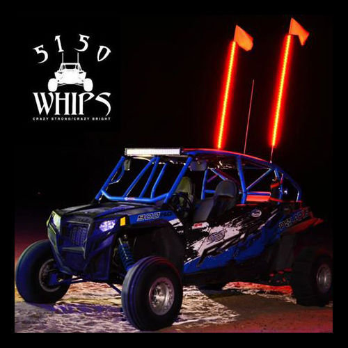 5150 Whips LED Whip PAIR- 6 ft (w/Remote)
