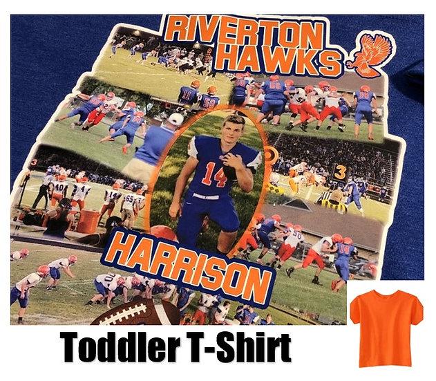 Customized Sports Photo T-Shirt *Toddler* - Show your team spirit!