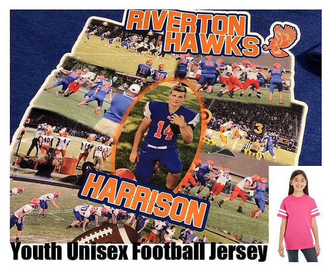 Customized Sports Photo Football Jersey *Youth* - Show your team spirit!