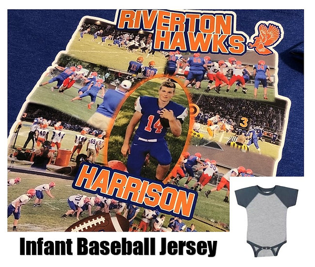 Customized Sports Photo Baseball Jersey *Infant* - Show your team spirit!