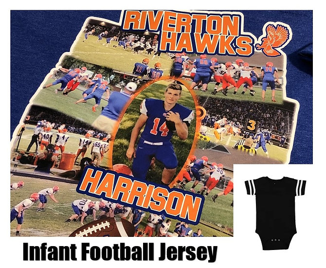 Customized Sports Photo Football Jersey *Infant* - Show your team spirit!