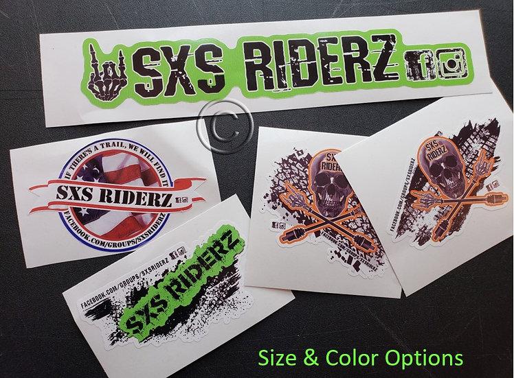 SXS RIDERZ Ltd. Edition Group Decals