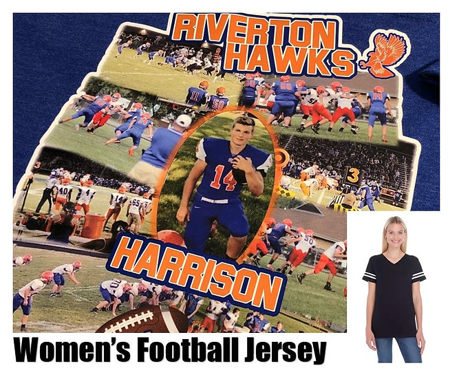 Customized Sports Photo Football Jersey *Women* - Show your team spirit!