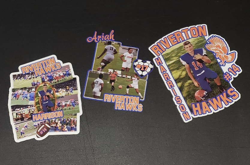 Customized Sports Photo Decal - Show your team spirit!