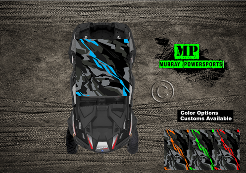Sxs Utv Rzr 2 Seat Or 4 Seat Roof Wrap Decal Truck Car