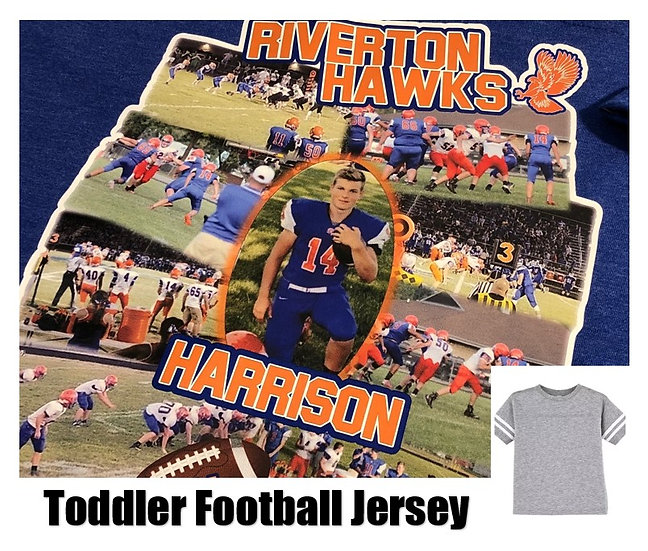 Customized Sports Photo Football Jersey *Toddler* - Show your team spirit!
