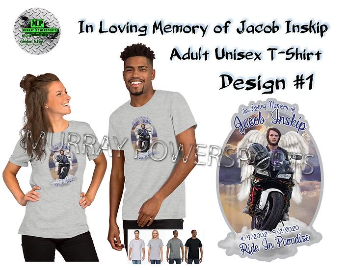 Jacob Inskip Memorial Adult Unisex T-Shirt (design1)