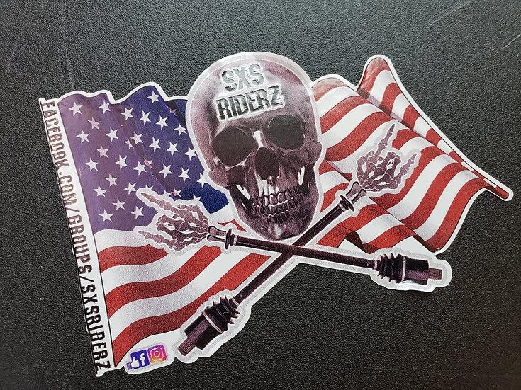 copy of Ltd. Edition SXS RIDERZ Group Decal, Flag Design
