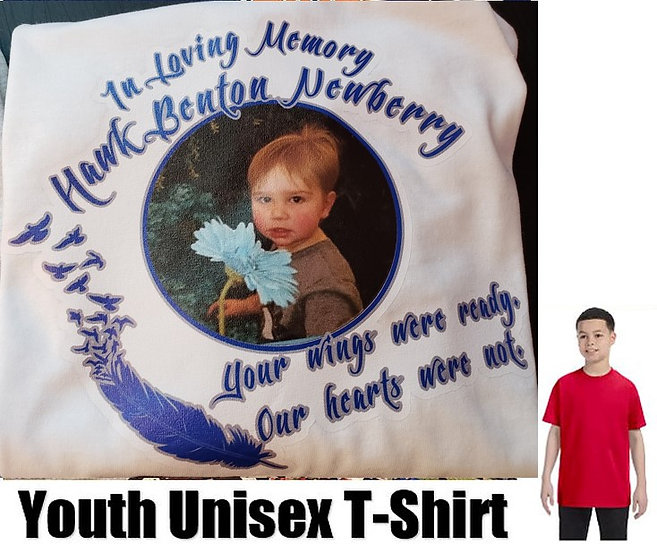 Hawk Newberry Memorial Photo T-Shirt *YOUTH* #2  (color options)