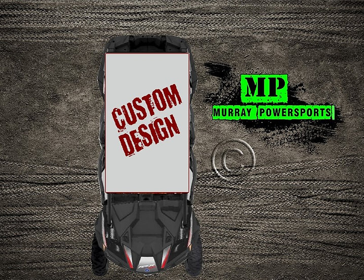 SXS/UTV/RZR 4 Seat Roof Wrap/Decal **CUSTOM DESIGN