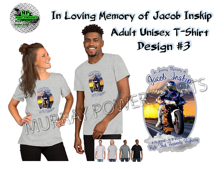 Jacob Inskip Memorial Adult Unisex T-Shirt (design 3)