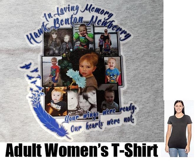 Hawk Newberry Memorial Photo T-Shirt *WOMEN* #1  (color options)