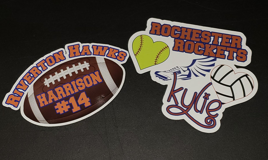 Customized Sports Decal - Show your team spirit!