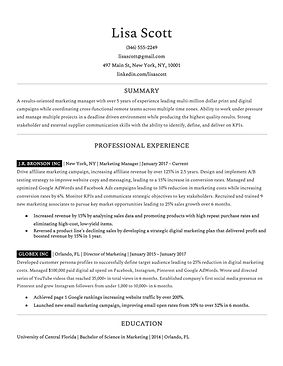Ideal Resume - Past Employers -- Lisa Sc