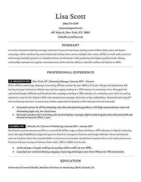Ideal Resume - Past Employers -- Lisa Sc